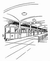 Subway Colouring sketch template