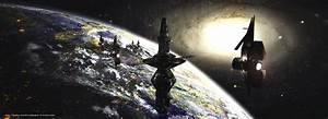 Download wallpaper docking station, sci-fi, space, galaxy ...