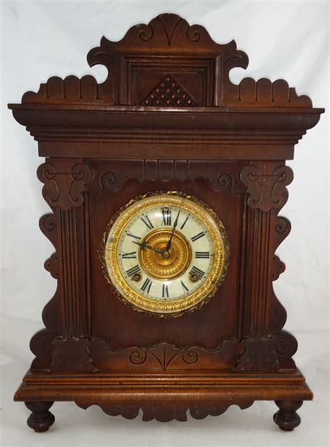 antique ls for sale 1890 39 s ansonia oak shelf clock for sale antiques com