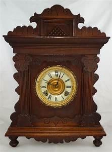 1890, U0026, 39, S, Ansonia, Oak, Shelf, Clock, For, Sale