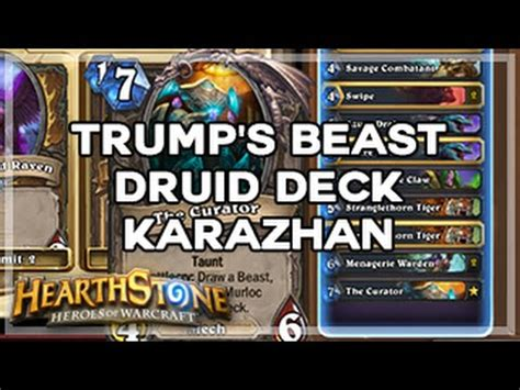 [hearthstone] Trump's Beast Druid Deck (karazhan) Youtube
