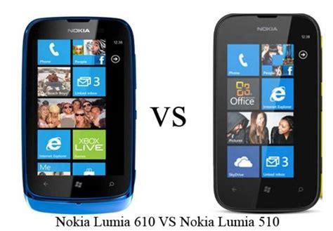 nokia lumia 510 nokia lumia 610 windows phone comparison