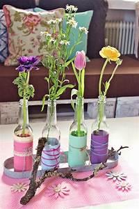 Deko Für Vasen : diy vasen aus alten flaschen tischdesign dekoration diy vase vase und flaschen ~ Orissabook.com Haus und Dekorationen