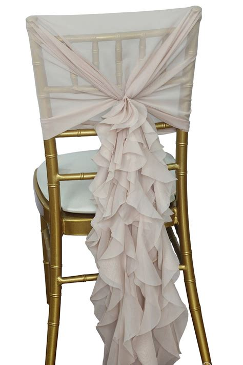 chiffon ruffle chair cover for your diner en blanc folding