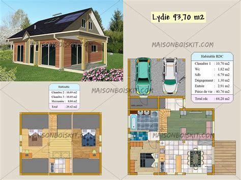 plan maison 3 chambres etage plan gratuit de chalet en bois en kit et plan de maison bois
