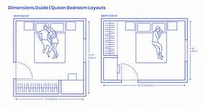 Queen Bedroom Layouts Dimensions  U0026 Drawings