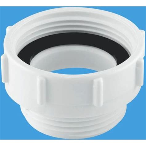 mcalpine waste outlet reducer mm  mm white