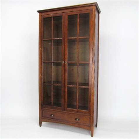 barrister bookcase with glass door in brown 9124