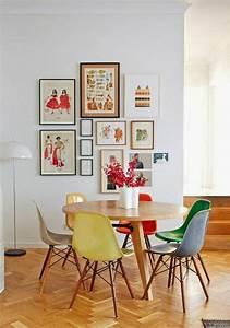 voici la salle a manger contemporaine en 62 photos With salle À manger contemporaineavec chaises colorees