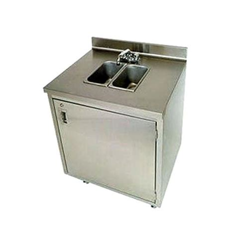 used portable 4 compartment sink crown verity cvphs 2 portable 2 compartment hand sink