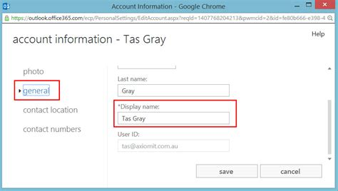 Office 365 Outlook Http Settings by Change Your Email Display Name In Office 365 Axiom It