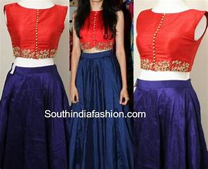 Party Wear Long Skirt and Crop Top u2013 South India Fashion
