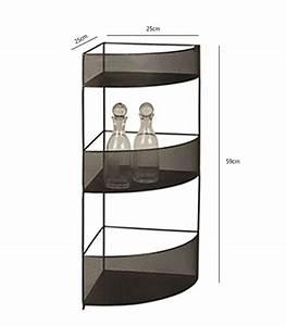 Etagere D Angle Noir : tag re d 39 angle en m tal noir hauteur 59cm ~ Teatrodelosmanantiales.com Idées de Décoration