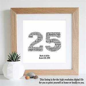 25th anniversary gift word art silver by wordlydesigns on etsy With silver wedding anniversary gift
