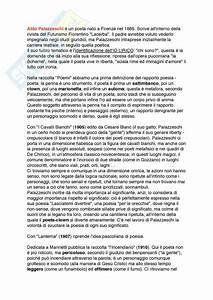 Palazzeschi  Appunti Di Letteratura Italiana Contemporanea