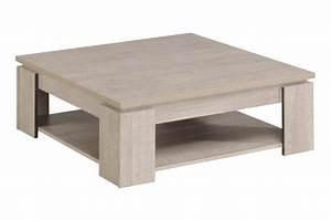 Table Basse Carrée En Bois : table basse en bois carr e ch ne gris loft novomeuble ~ Teatrodelosmanantiales.com Idées de Décoration