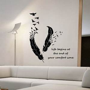 Feathers Turning Into Birds Vinyl Wall from StateOfTheWall on