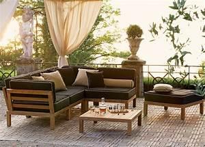 weishaupl hocker element hampton teakholz sitz lounge art With französischer balkon mit garten lounge möbel teak