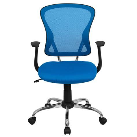 flash furniture flash furniture mid back blue mesh office