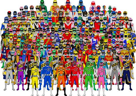 All Of Super Sentai By Taiko554 On Deviantart