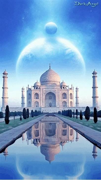 Taj Mahal Gifs Animation Tajmahal India Places