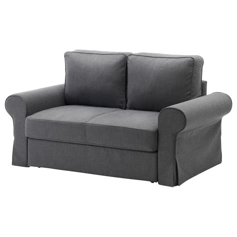 canapé lit futon ikea backabro two seat sofa bed nordvalla grey ikea