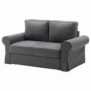 backabro two seat sofa bed nordvalla dark grey ikea With canape futon convertible 2 places ikea
