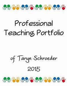 techy teacher portfolio cover page With educational portfolio template