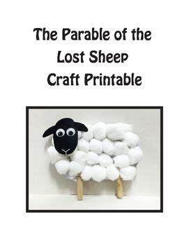 parable of the lost sheep craft elementary bible craft 804 | 588eb697a713240efd04d2bf01f623e5