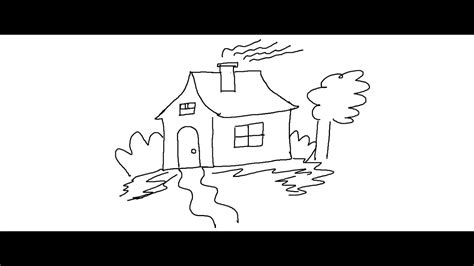 easy kids drawing lessons   draw  cartoon house