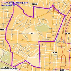 North Raleigh Zip Code Map
