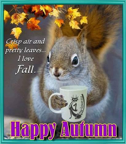 Fall Happy Autumn Squirrel Animals 123greetings Squirrels