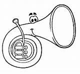 Horn Coloring Colorear Coloringcrew sketch template