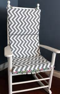 rocking chair cushion grey and white multi chevron