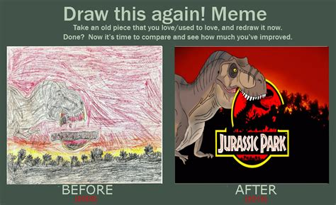 Jurassic Memes - jurassic park old and new draw this again meme by trefrex on deviantart