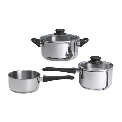 cookware ikea annons pots pans cooking sets piece stainless steel sauce
