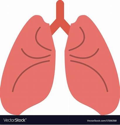 Lungs Cartoon Vector Icon Royalty