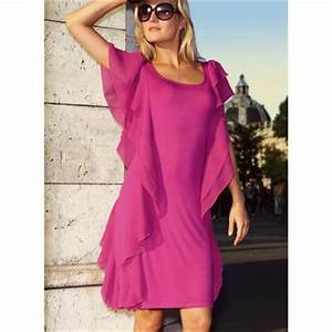Code reduc 3 suisses robe en maille volantee femme for Robe de cocktail 3 suisses