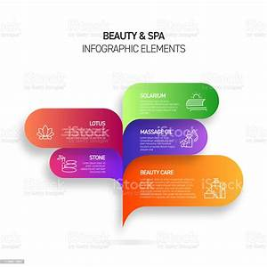 Beauty And Spa Infographic Design Template With Icons And