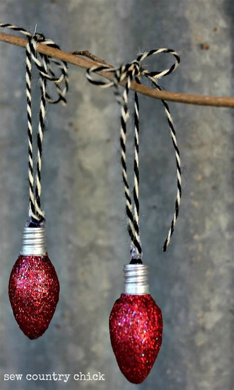 diy light bulb ornaments  christmas beesdiycom