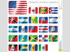 Flags North & Central America Stock Vector Illustration