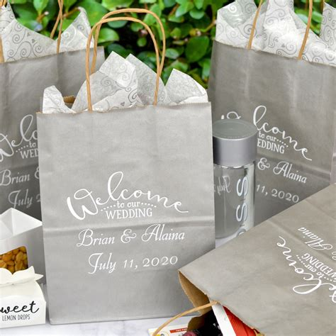 8 X 10 Kraft Wedding Hotel T Bags Personalized