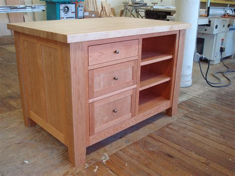 hand made freestanding craft table kitchen island by