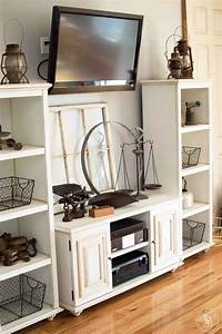 Diy, Entertainment, Center, Makeover, With, Chalk, Paint