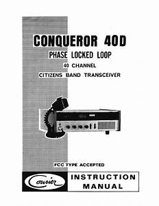 Courier Conqueror 40d Cb Radio Owners Manual And Schematic