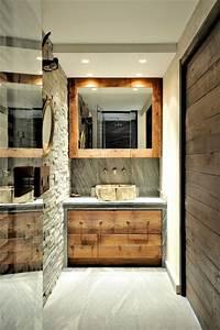 chalet fantaisie montagne salle de bain lyon par capri With salle de bain montagne