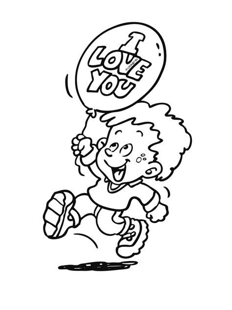 Kleurplaat Ballon Met Mandje En Baby by Kleurplaat Jongen Met Ballon I You Kleurplaten Nl