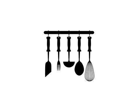 deco cuisine noir et gris stickers ustensiles de cuisine