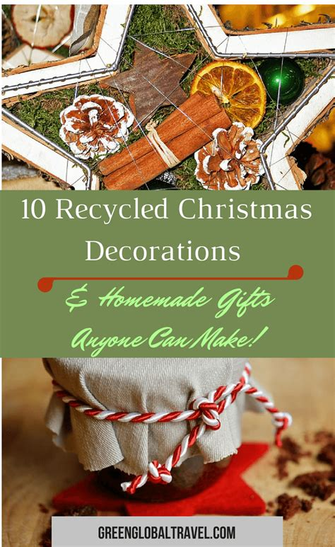 recycled christmas decorations homemade gifts