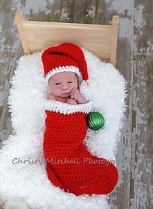 Ravelry Christmas Stocking Cocoon & Santa Hat Prop